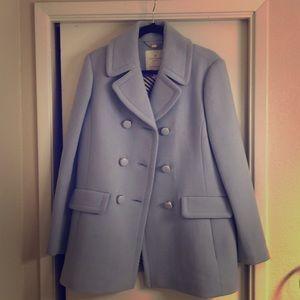To die for Kate Spade periwinkle coat 😍